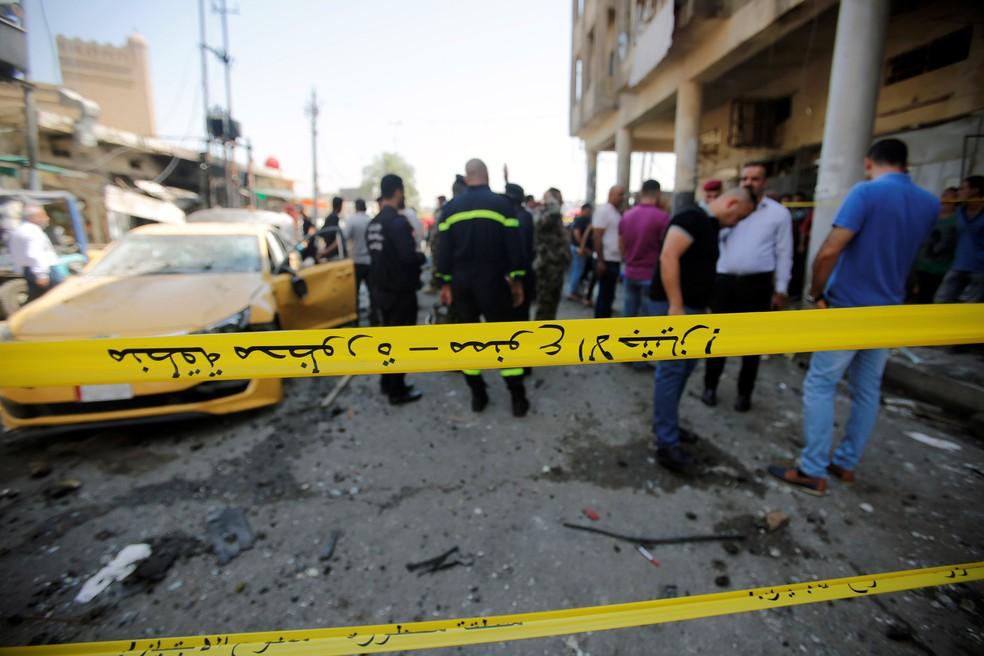 Atentado em Bagdá deixa 28 mortos (Foto: REUTERS/Khalid al-Mousily)