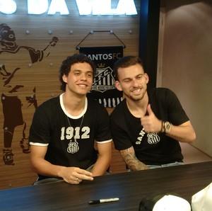 Lucas Lima e Victor Ferraz evento santos (Foto: Yan Resende)