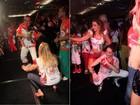Susana Vieira e Christiane Torloni dançam até o chão em feijoada