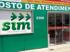 Loja de atendimento do SIM para estudantes (Foto: Assessoria SIM/Digulgação)