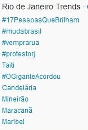 Trending Topics no Rio às 17h07 (Foto: Reprodução/Twitter.com)