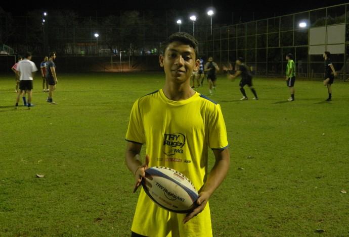 Davi Antônio dos Santos Rugby Uberlândia (Foto: Divulgação/ Sesi-MG)