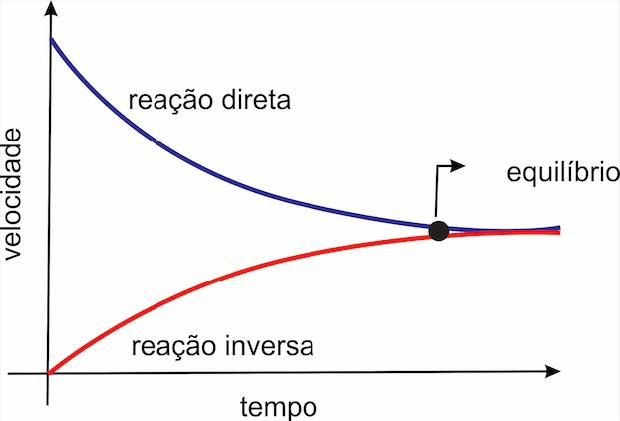 Variação entre velocidade e tempo. No equilíbrio velocidades se igualam. (Foto: Wikicommons)