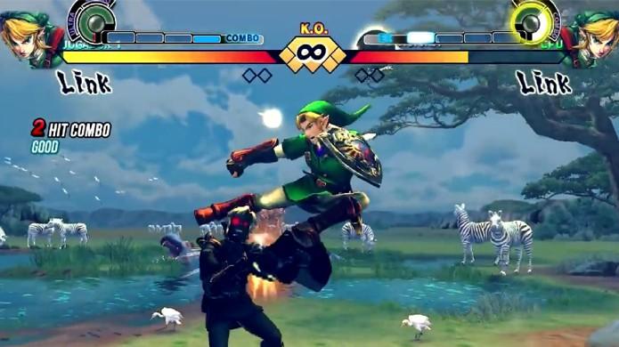 Link, herói da série The Legend of Zelda vira lutador em Street Fighter 4 (Foto: Reprodução: YouTube)