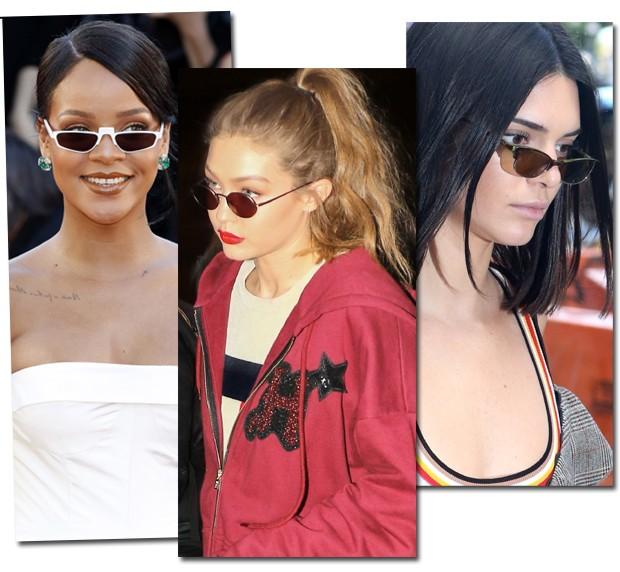 Rihanna, Gigi Hadid e Kendall Jenner (Foto: AKM Images)