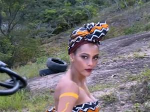 Além de esposa, Michele é empresária e dançarina de Mr. Brau (Foto: Vídeo Show/Gshow)