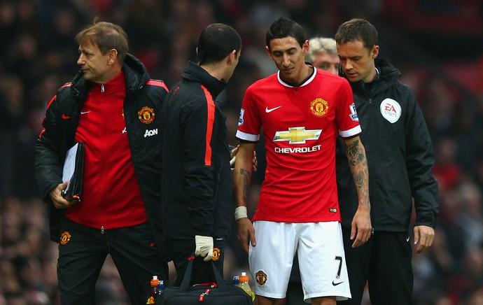 Manchester United x Hull City - Di Maria substituição (Foto: Getty)