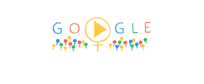 Doodle do Google celebra Dia Internacional da Mulher com símbolo feminino (Foto: Reprodução/Google)