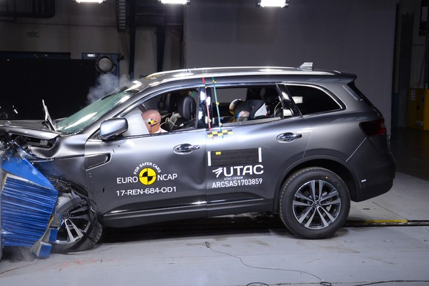 Renault Koleos recebe nota máxima de segurança pelo Euro NCAP