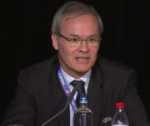Giorgio Marchetti, diretor de competições da Uefa (Foto: Reprodução de vídeo)