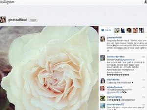 Gisele Bündchen publicou imagem de flor no Instagram (Foto: Reprodução/Instagram)