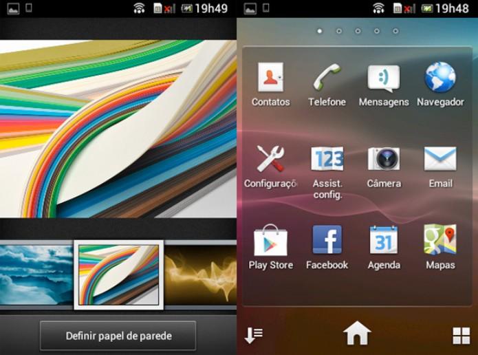 Screenshot da tela do Xperia E Dual: resolução é de apenas 320 x 480 pixels (165 ppi) (Foto: Isadora Díaz/TechTudo)