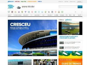 Site especial fala sobre nova Arena do Grêmio (Foto: Reprodução/ globoesporte.com)