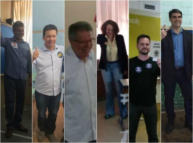 Candidatos a prefeitura de Porto Alegre votam durante manhã (2) (Foto: G1RS/Divulgação )