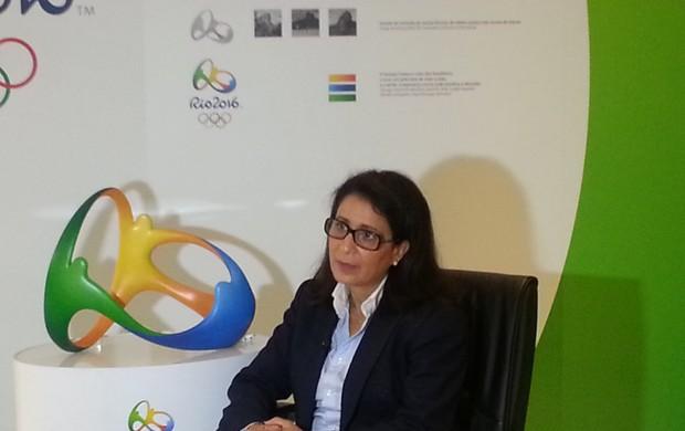 Nawal el-Moutawakel, presidente da Comissão do COI no Rio (Foto: Lydia Gismondi)