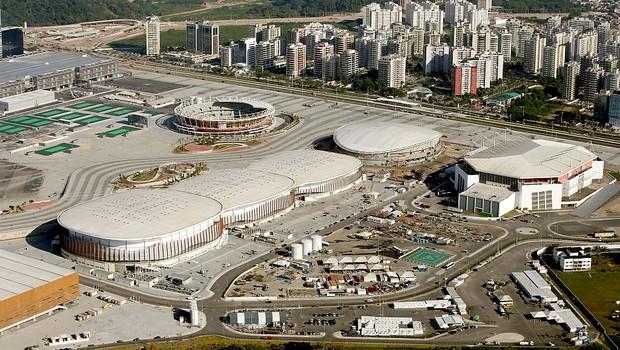 Vista aérea do Parque Olímpico no Complexo Barra no Rio de Janeiro (Foto: Matthew Stockman/Getty Images)