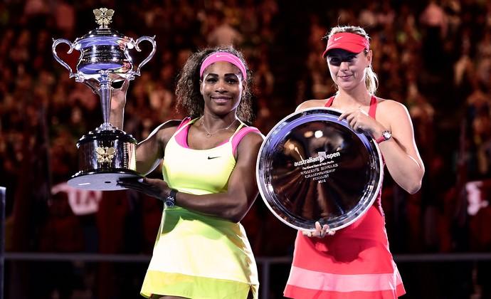 Sharapova x Serena final Aberto da Austrália (Foto: Ben Solomon/Tennis Australia)