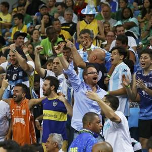 Argentinos fizeram a festa na Arena Carioca 1 (Foto: Reuters)