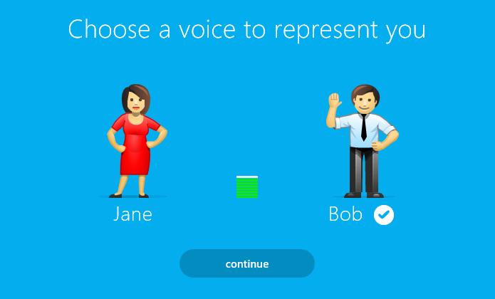 Escolha entre a voz masculina e feminina (Foto: Reprodução/Helito Bijora)