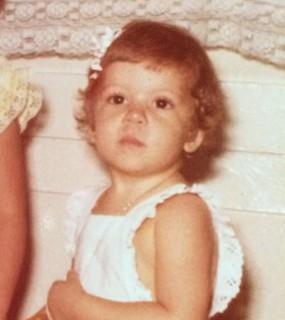 Denise Freitas quando era criança (Foto: Arquivo pessoal)