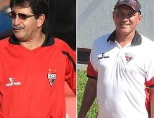 René Simões e PC Gusmão - Atlético-GO (Foto: Montagem / GLOBOESPORTE.COM)