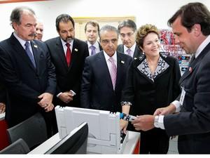 Dilma Rousseff na abertura do 7º Encontro Nacional da Indústria (Foto: Roberto Stuckert Filho/Presidência)