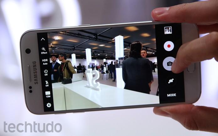 Motion Panorama do Galaxy S7 captura fotos panorâmicas com movimentos (Foto: Fabrício Vitorino/TechTudo)