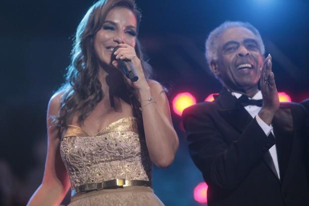 Ivete Sangalo com Gilberto Gil no Festival de Verão de Salvador, na Bahia (Foto: Fred Pontes/ Divulgação)