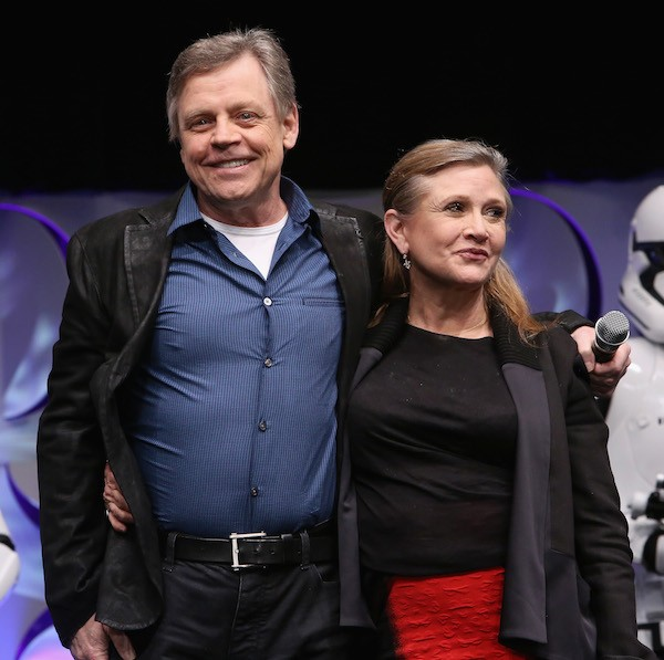 Mark Hamill e Carrie Fisher (Foto: Getty Images)