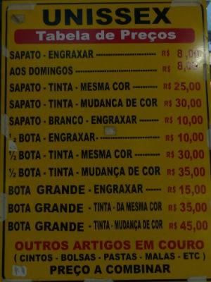 Engraxada custa R$ 8 na Boca do Brilho, em Curitiba (Foto: Fernando Castro/G1)