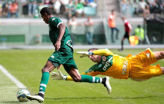 Bruno Henrique, do Goiás, brilha contra o Palmeiras (Foto: RODRIGO GAZZANEL/AGENCIA ESTADO)