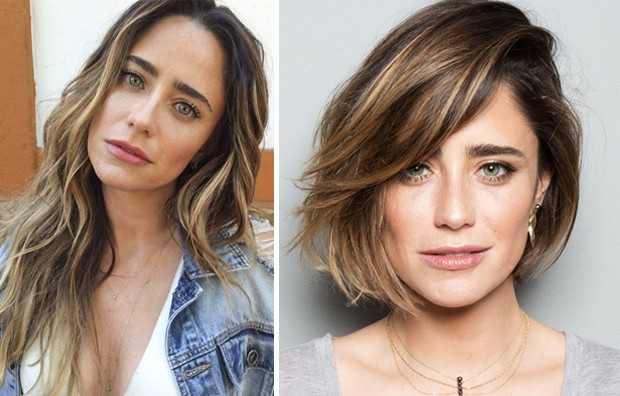 Fernanda Vasconcellos e a primeira mudança, em novembro passado (Foto: Arte Vogue Online)
