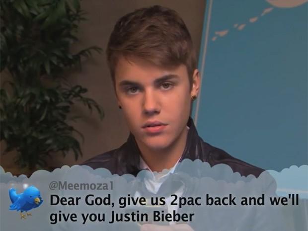 "Justin Bieber no 'Jimmy Kimmel Live!"" (Foto: Reprodução/Youtube)"