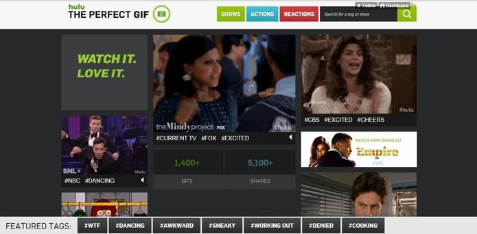 Hulu lança ferramente de busca pelo GIF perfeito (Foto: Reprodução/Hulu)