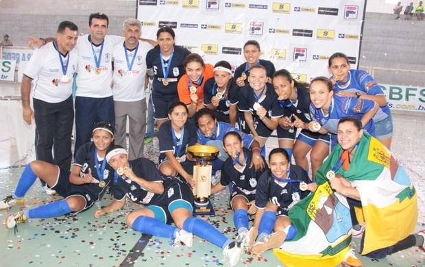 Carnaubais conquista Taça Brasil de Futsal Feminino - 1ª Divisão (Foto: Cedida/Arquivo Pessoal)