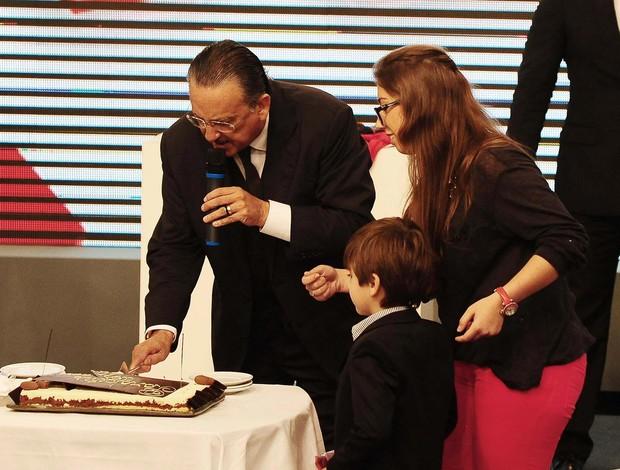 Galvão Bueno netos bolo (Foto: Marcos Ribolli)