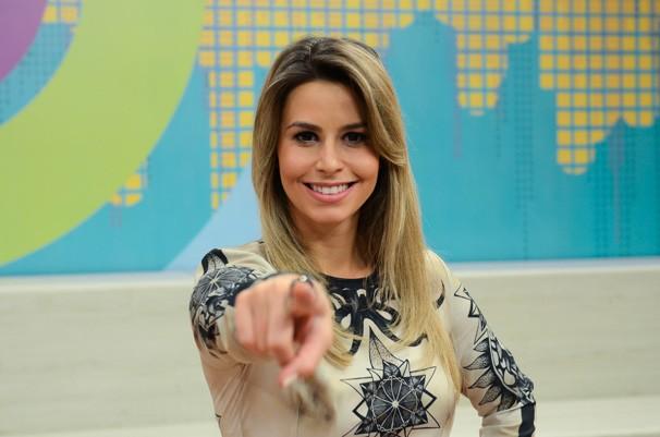 Daiane Fardin Estúdio C (Foto: Mana Gollo / RPC)