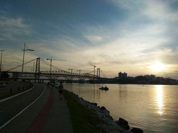 Ponte Hercílio Luz, Florianópolis (Foto: Fernanda Burigo/G1)