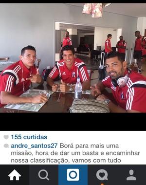 André Santos, meia do Botafogo-SP (Foto: Divulgação/Instagram)