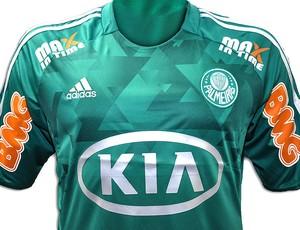 Camisa do Palmeiras com novo patrocínio pontual (Foto  Divulgação) d3bcc58f6dc15