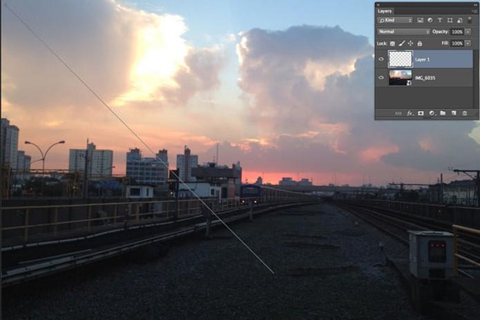 Aplique a ferramenta de edição como indicado na imagem  (Foto: Reprodução/André Sugai)