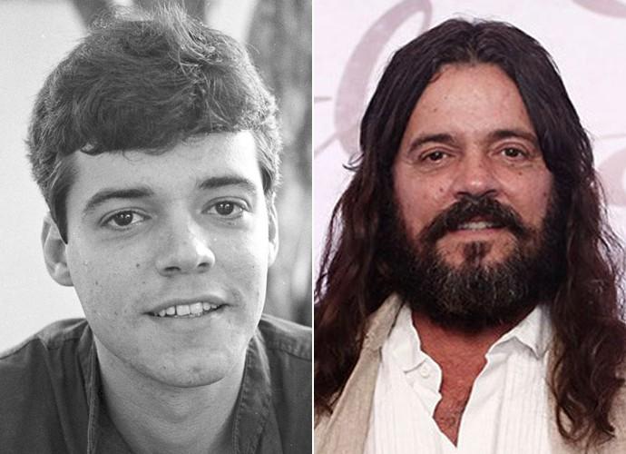 Na pele do jovem Marcos, Felipe Camargo estrelou Anos Dourados em 1986. Para viver Bernardo, em Além do Tempo, o ator mudou radicalmente de visual (Foto: CEDOC / TV Globo / Inácio Moraes)