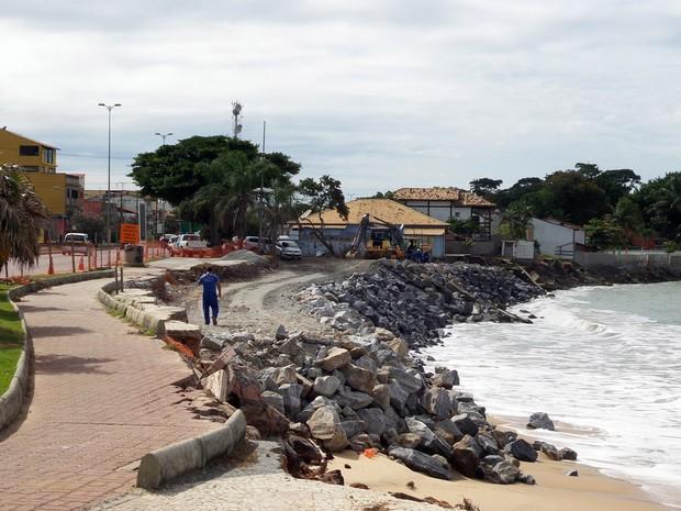 Obra avançou por 120 metros desde o início (Foto: Gabriel Sales/Ascom Rio das Ostras)