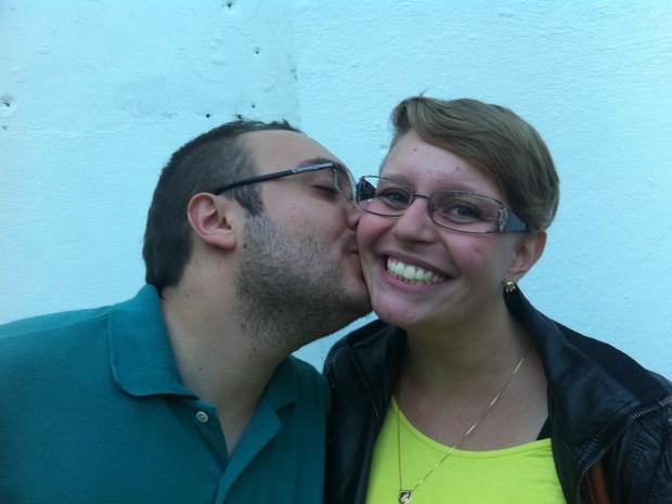Fernanda e o namorado (Foto: Rodrigo Ortega/G1)