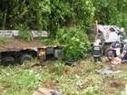 Motorista morre após caminhão cair em ribanceira na BR-262, no ES