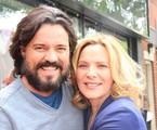 Felipe Camargo e Kim Cattrall | Arquivo pessoal