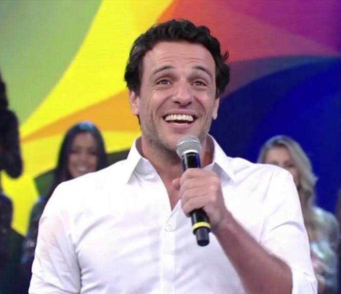 Rodrigo Lombardi comenta papel em 'Velho Chico' no 'Domingão do Faustão' (Foto: TV Globo)