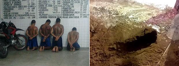 Presos usaram túnel para escapar; sete já foram recapturados  (Foto: G1/RN)