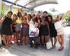 Fãs se reúnem na portaria do Projac (Foto: Carol Caminha/TV Globo)