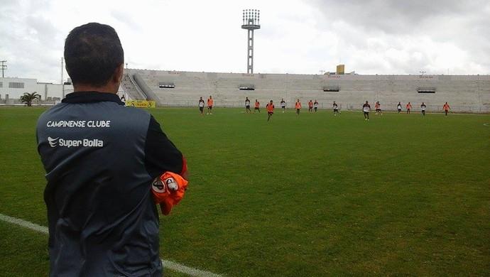 francisco diá, campinense, treino (Foto: Divulgação / Campinense)